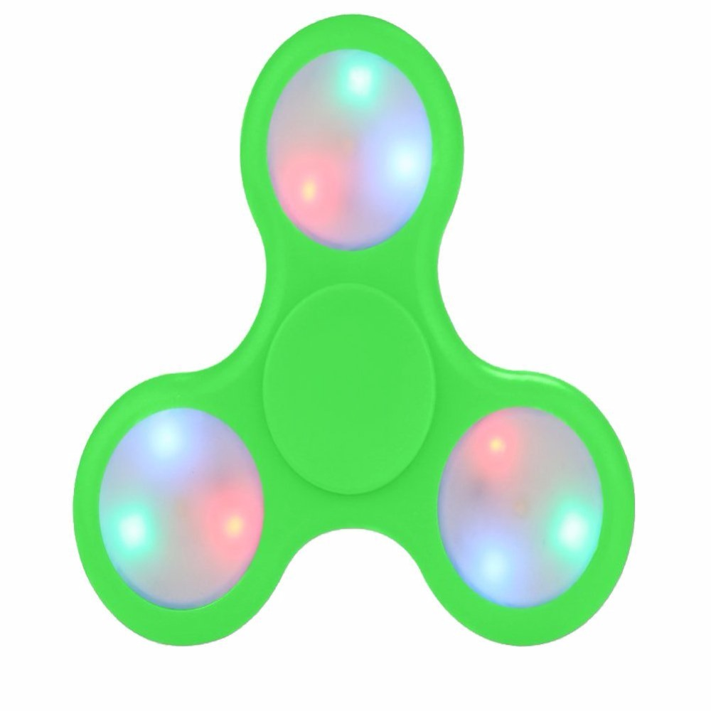 Newest light up LED fidget spinner with bluetooth speaker anti anxiety desk