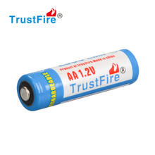 Trustfire original factory cylindrical battery 1.2V rechargeable AA NI-MH battery 2500mAh with Nipple top