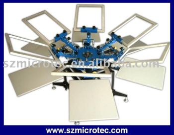 Manual Screen Printing Machine - 6 Color