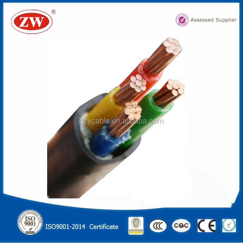 4 Core 4MM, 6MM, 10MM, 16MM ZR YJV Cable 600V