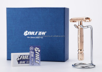 Best Promotion Classic Shaving Razor Gitf Box Stainless Steel DE Safety Razors