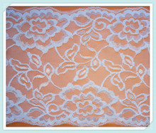 Chinese tulle embroidered spandex lace fabric