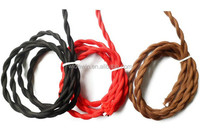 Hot Sell Colorful Pendant Lamp Wire Twisted Cotton Flexible Round Cable