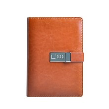 leather notebook cover with coded lock agenda organizer planner notebook