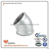 high quality 45 degree bend / elbow / pipe fitting