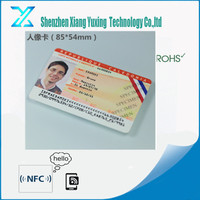 125khz LF PVC CR80 Contactless printable rfid photo id card producer