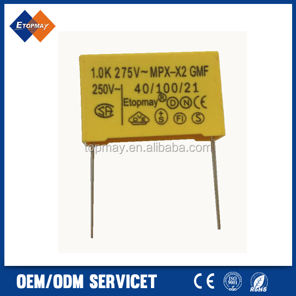 Interference Suppression Capacitor Class X2 1uF 275V
