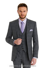 japanese style check tailored business suit for men,slim-fit ,3-piece-suit