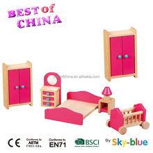 Doll house furniture wooden Furniture toy -, Role playing doll house pretend game set,EN71 Best of China