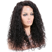 Fashion! natural color 13x4 lace frontal raw Indian remy human hair lace front wig natural curl brazilian hair