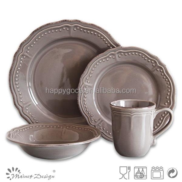 16pcs embossed stoneware dinnerware set for wholesale mexican dinnerware sets  sc 1 st  Yuanwenjun.com & 16pcs mexican dinnerware sets_Yuanwenjun.com