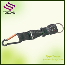 Custom compass keychain with carabiner