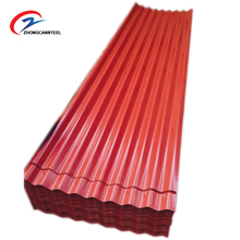 Color Coated Corrugated Steel Roofing Sheet PPGI Materials Iron Zinc Tile