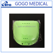 Newest Compact Colorful Dental Retainer Box/Denture Box/False Teeth Container At Home To Use