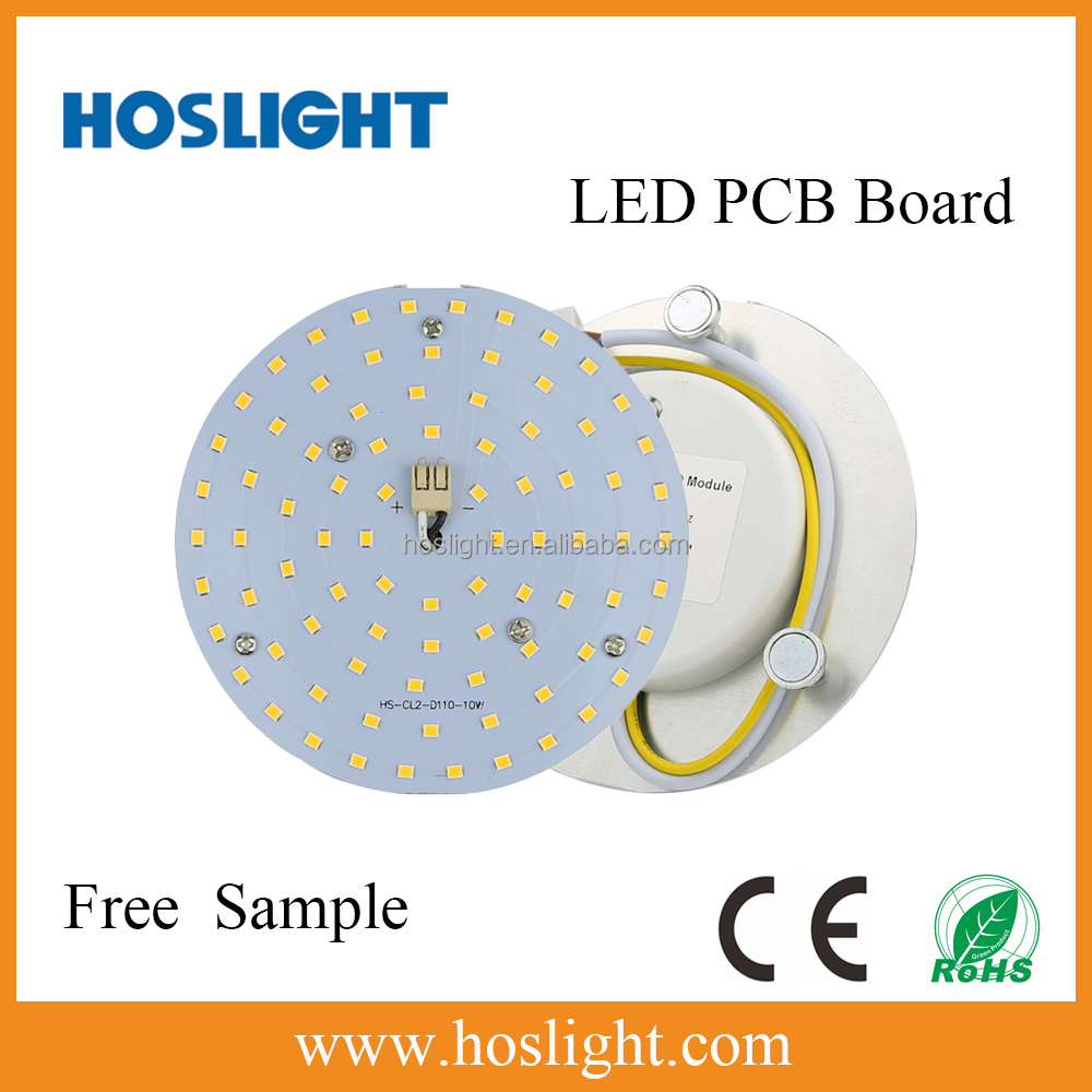 High Power new circuit led light round SMD LED PCB Board module 10W 3 years warranty