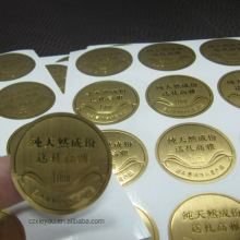 Waterproof high quality Gold Stamping Foil adhesive Labels