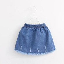 MS80649M 2016Spring Kids Girls Princess Korean Style Sweet Denim Short Skirt