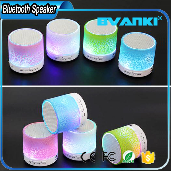 High Quality Bass Stereo Sound Mini Speaker Bluetooth With Led Lights 350mah FM Radio Support TF AUX USB