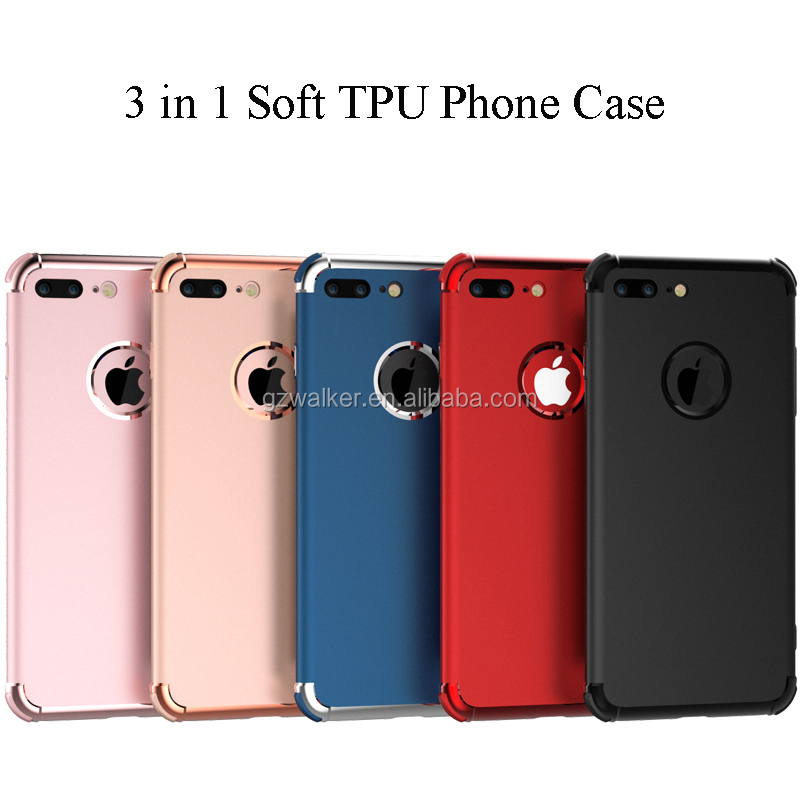 New Arrival Simple Anti-slip Frosted TPU Plastic Case Phone Mobile Back Cover For Iphone 8 Case