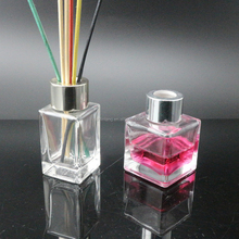 shanghai linlang air freshener 50ml 125ml 200ml glass reed diffuser bottle with silver lid stick for home decor
