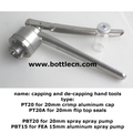 capping and de-capping hand tools suit plain seals, flip top seals, spray pump valves