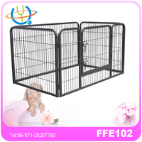 Metal Frame Wire mesh dog pet playpen with 4 pannels
