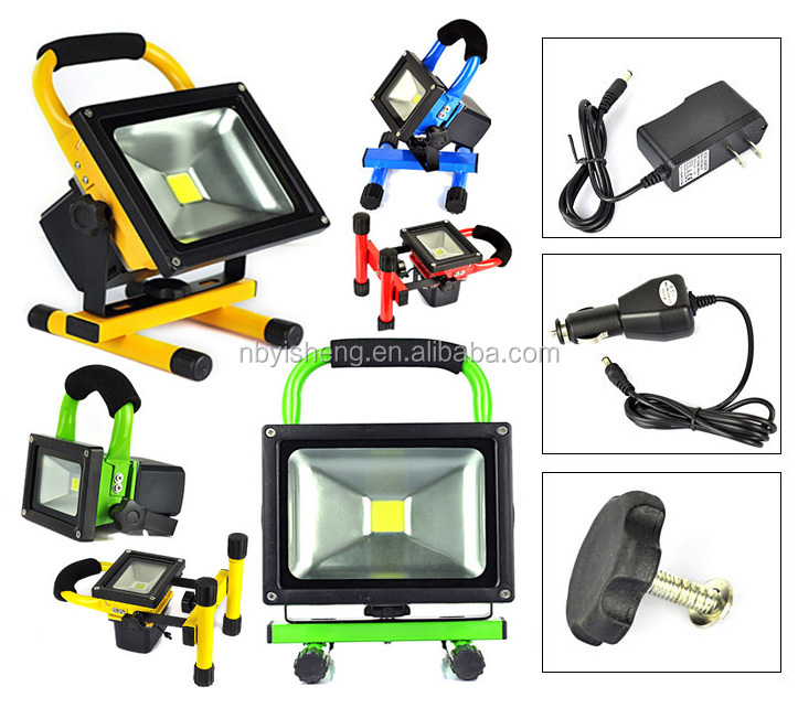2 Years warranty IP65 5W 10W 20W 30W 50W 100W AC220-240V EU plug portable Flood LED Rechargeable Emergency Light