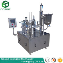 Mini Rotary Paper Cup Filling And Sealing Machine | Milk Yogurt Paper Cup Filling Sealing Machine