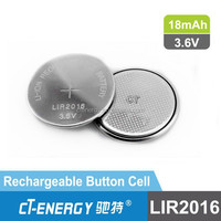 High working voltage li-ion rechargeable button cell lir2016 lithium-ion rechargeable cell battery