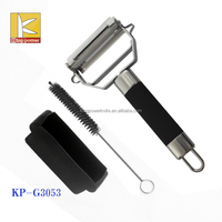 /Cutter/Slicer Stainless Steel Handle coating TPR Apple, Potato, Carrot, Zucchini, Cheese Julienne Vegetable Peeler with cover