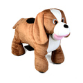 Coin operated riding on animal toy for children