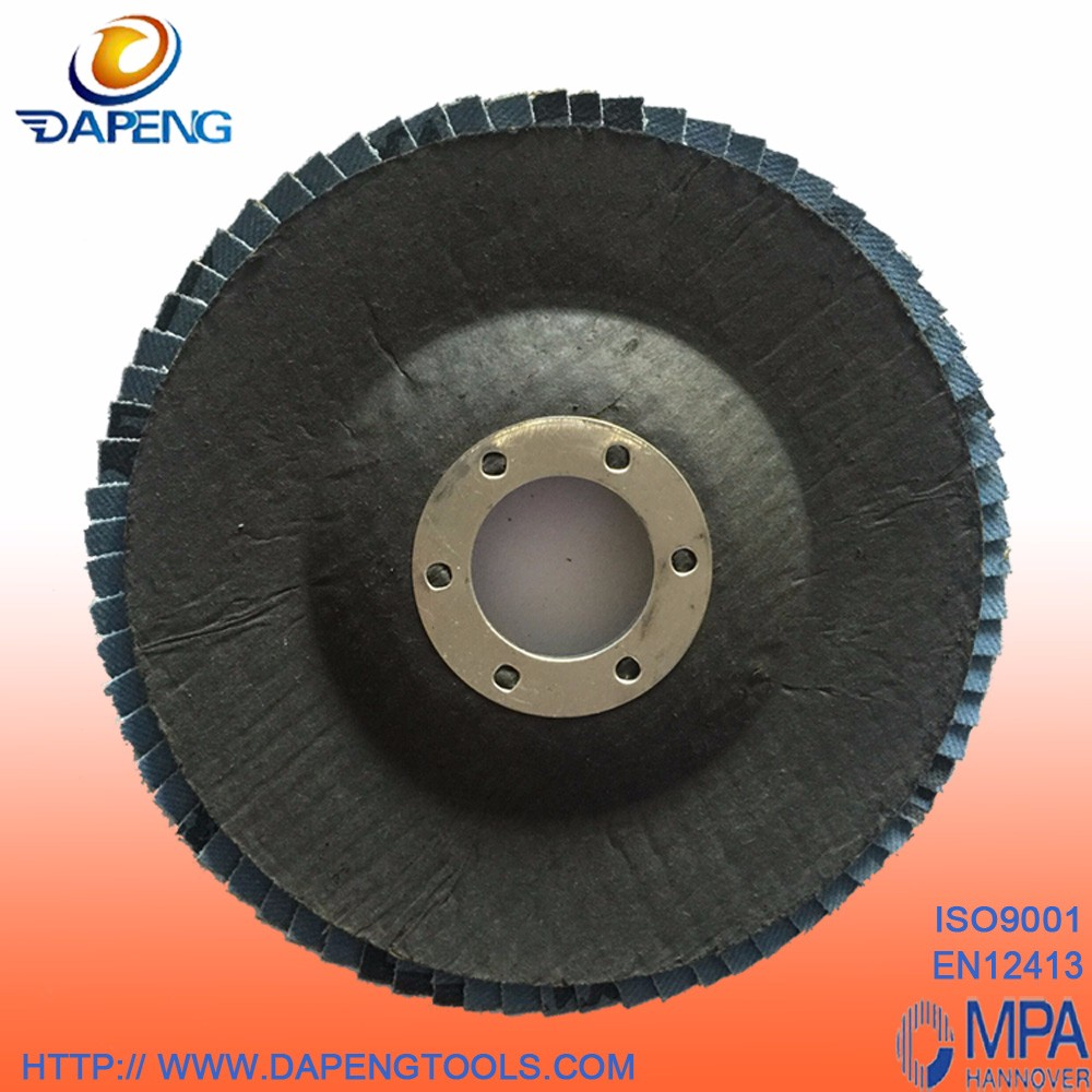 "T27/T29 perfect quality 4 1/2"" 115x22mm abrasive zirconia flap discs"