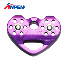 Stainless Steel Tandem Zipline Cable Trolley Pulley for Outdoor Climbing with Sealed ball bearings