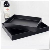 stackable acrylic serving tray for hotel