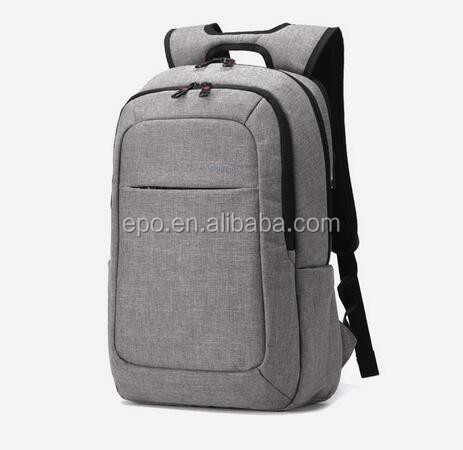 2016 Grey Canvas Men's Laptop Backpack High Quality 14.1Inch Laptop Notebook