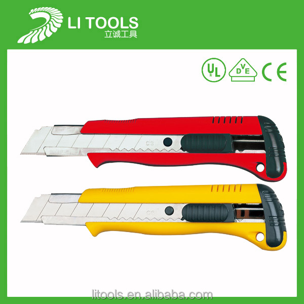 Utility Knife Retractable Blade Box Cutter Snap Off Lock Razor Sharp Tool
