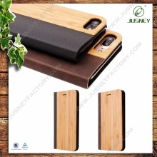Amazing Top Quality Wholesale Wooden Leather Case Wood Leather Phone Case for iphone 6