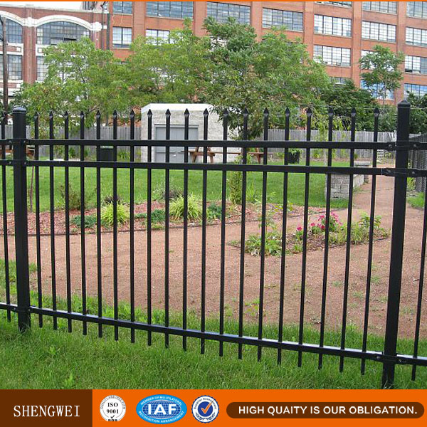 Galvanized picket weld fence / Ornamental Iron steel / metal picket fence