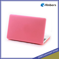 Mint Green/Pink/Red/Orange/Yellow Rubberized Hard Shell Plastic Top and Bottom Cover Case for MacBook New White Unibody A1342