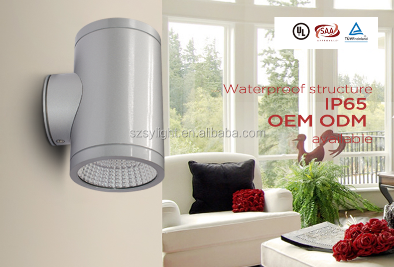Ip65 Outdoor Wall Mounted Light Up Down Led Wall Light 10w 8w 20w 40w 50w Led Wall Pack With Big Bracket With 5 Years Warrenty