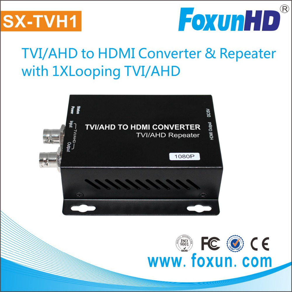 TVI/AHD to HDMI Converter, with 1080P looping TVI/AHD output
