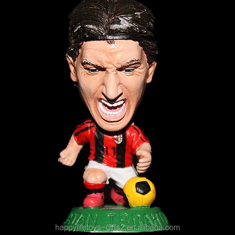 soccer /football player big head polyresin figurines