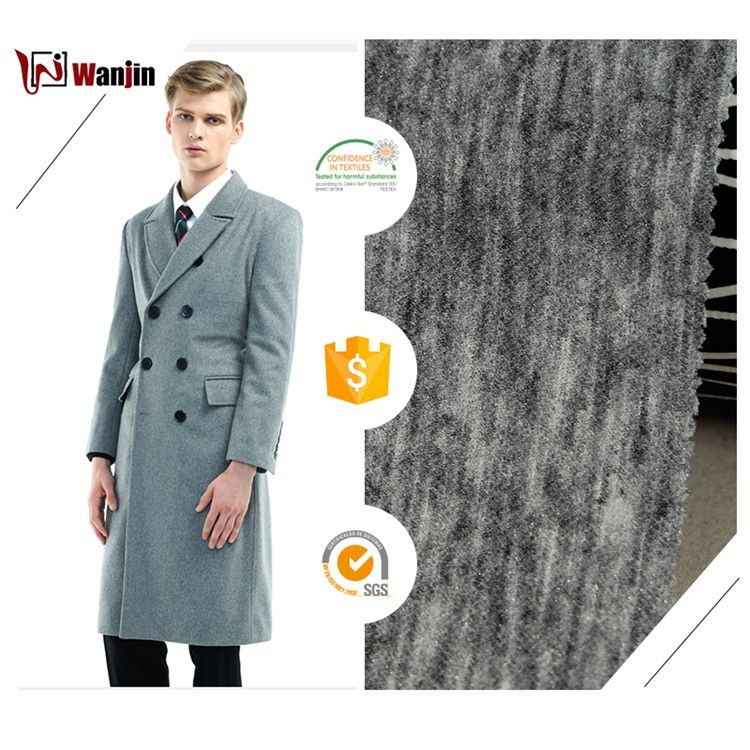 3670 wholesale stock nylon lambs wool polyester acrylic knit fabric for tweed coat