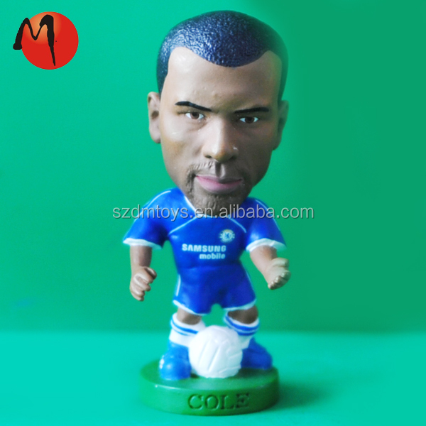 miniature soccer player action figures
