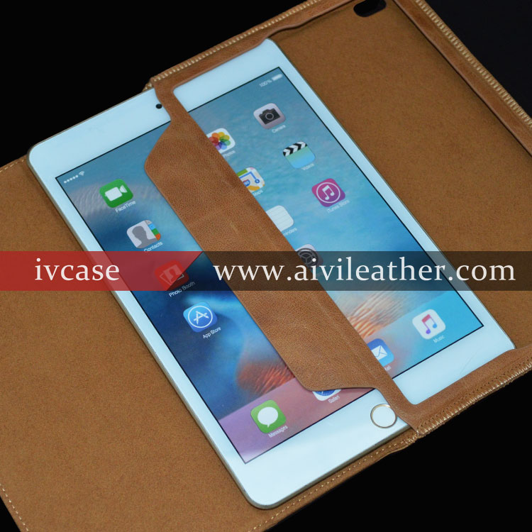 Vintage Protective Slim Folio Flip Genuine Leather Case Stand Smart Cover for Apple ipad mini 4 case