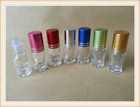 Wholesale 3ml glass roll on bottle with Alu cap