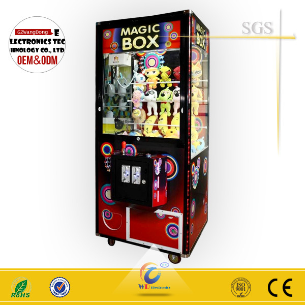 claw crane vending machines for sale/ arcade claw machine for sale/ crane manufacturing company