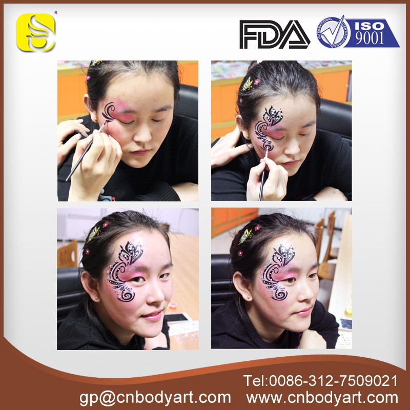 New 12 Colors NonToxic Face and Body Paints with Glitter for Kids Made in China