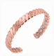 Wenfanqi wholesale twisted style design healing copper bracelet with 12 magnets
