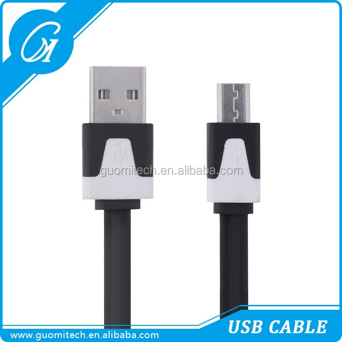 2M V8 Flat Noodle Cable Micro USB to 2.0 USB Data Sync Charger date line